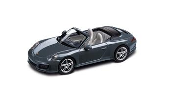 911 Carrera Cabriolet, metallic agate blue 1:43