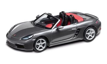 1:43 Model Car | 718 Boxster in Agate Grey Metallic