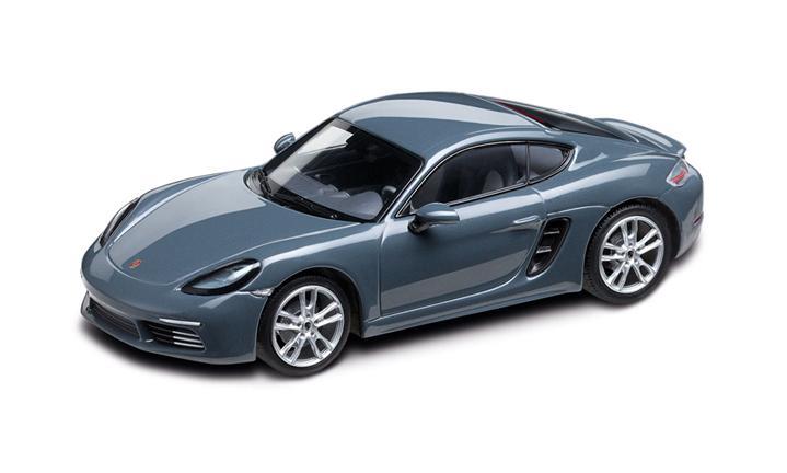 1:43 Model Car | 718 Cayman in Graphite Blue Metallic