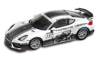 Cayman GT4 Clubsport Porsche Design, bianco/multicolore, 1:43, Limited Edition