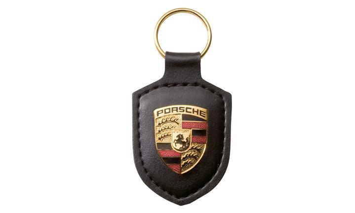 Porsche crest keyring black