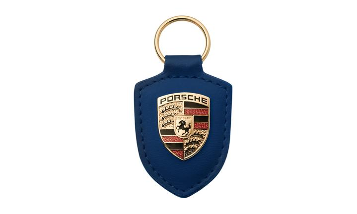 Porsche Blue Crest Keyring