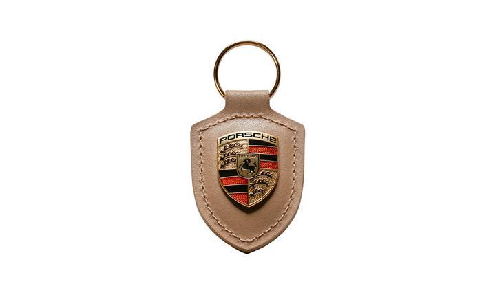 Porsche Crest keyring, beige