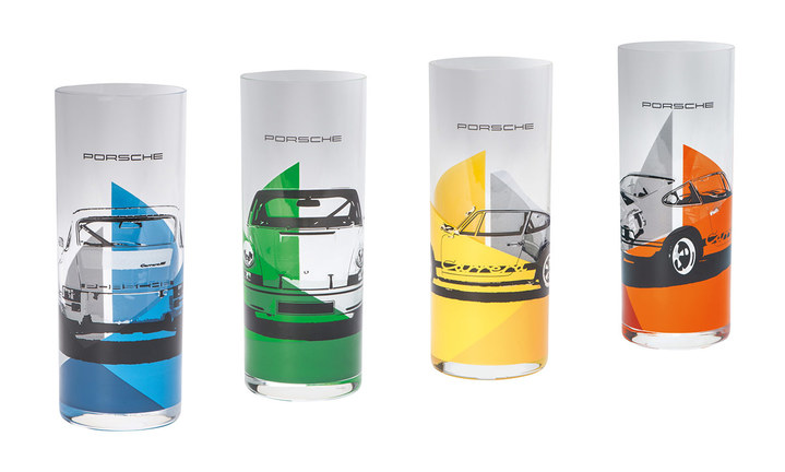 RS 2.7 Collection, Longdrink Glasses Set of 4, blue/green/yellow/orange