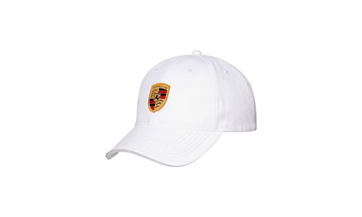 White Porsche Crest Unisex Cap