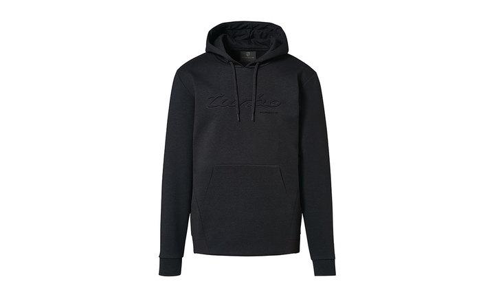 Porsche Men's Turbo Hoodie Jacket in Black (Special Order Only)