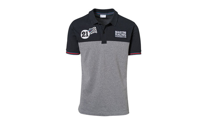 martini racing collection polo shirt men dark blue grey. Black Bedroom Furniture Sets. Home Design Ideas