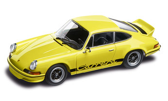 911 RS 2.7, light yellow, black 1:43, DieCast