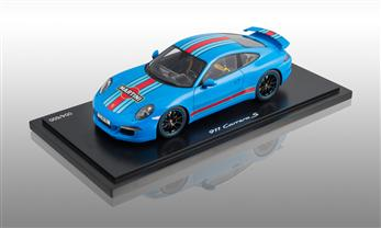 911 (991) Carrera S Martini Racing, rivierablau, 1:18
