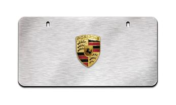 Porsche Badge Plate Brushed Silver