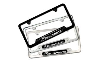 Panamera Nameplate Polished Silver