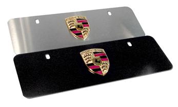 Porsche Badge Plate Euro Matte Black