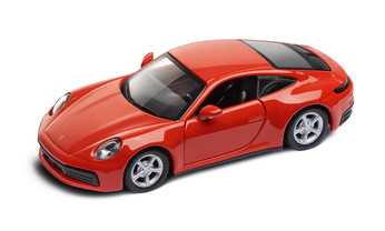 911 Carrera 4S  Pullback Toy, lava orange 1:43