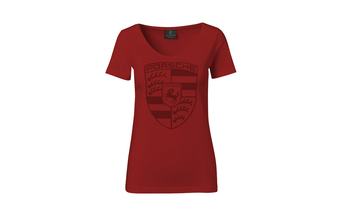 Carmine Red* Women' Crest T-shirt
