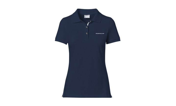 Ladies Polo shirt Navy with lettering
