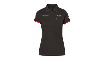 Women's Black Replica, Polo-Shirt Motorsports Collection