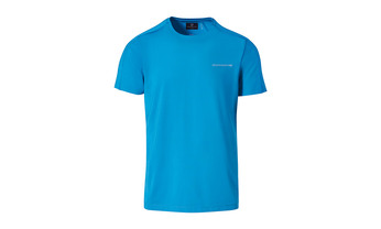 Taycan Men's Polo in Black and Blue