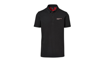 Men's Black polo Motorsports Collection, Fanwear