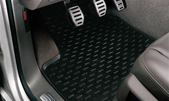 Rubber floor mat black