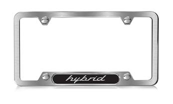 Hybrid Brushed Stainless Steel License Plate Frame