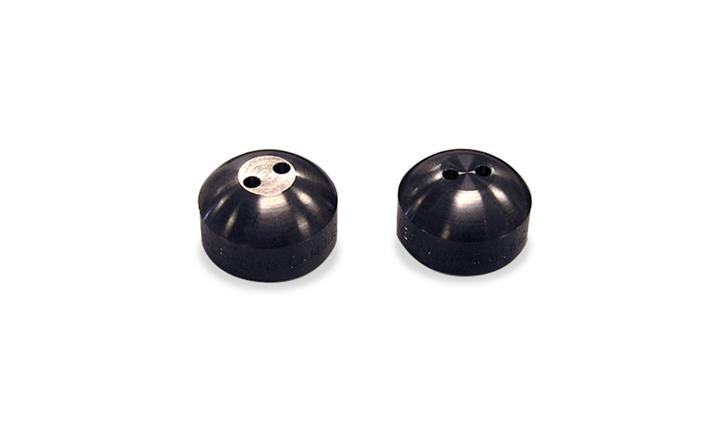 Black Pearl Stainless steel Security Caps, set of 2