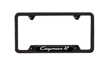 Cayman Carbon Fiber Composite license plate frame